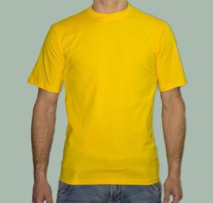 Футболка желтая лимонная
